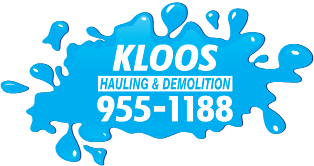 Logo, Kloos Hauling & Demolition - Take My Junk Winnipeg