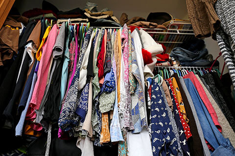 Cluttered closet - Get rid of junk in your house easier with these tricks - Junk Removal Winnipeg - Kloos Hauling and Demolition